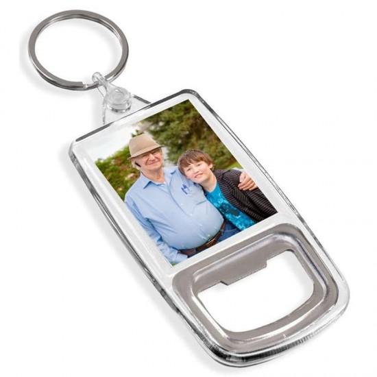 Ключодържател отварачка с твоя снимка