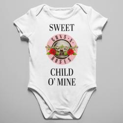 Бебешко боди с щампа - Sweet Child O Mine Pink