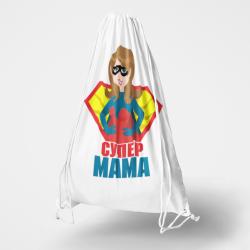 Текстилна раница за гръб - Супер Мама