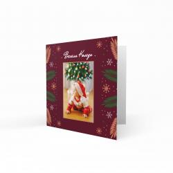 Коледна картичка с ваша снимка №2