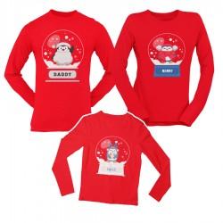Коледен комплект блузи - Pingui