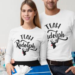 Комплект коледни блузи Team Rudolph White
