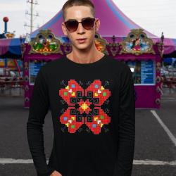 Мъжка блуза с етно мотиви 12