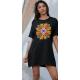 Дамска тениска-рокля с шевица