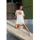 Дамска тениска-рокля с шевица 04
