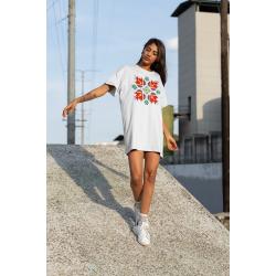 Дамска тениска-рокля с шевица 08