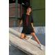 Дамска тениска-рокля с шевица 09