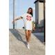 Дамска тениска-рокля с шевица 12