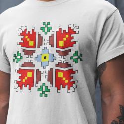 Мъжка тениска с етно мотиви 07