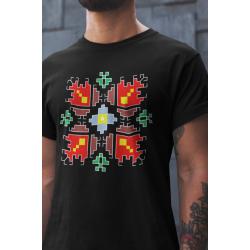 Мъжка тениска с етно мотиви 08