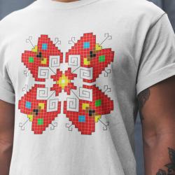 Мъжка тениска с етно мотиви 11