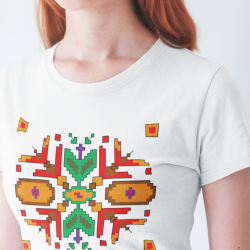 Дамска тениска с етно мотиви 03