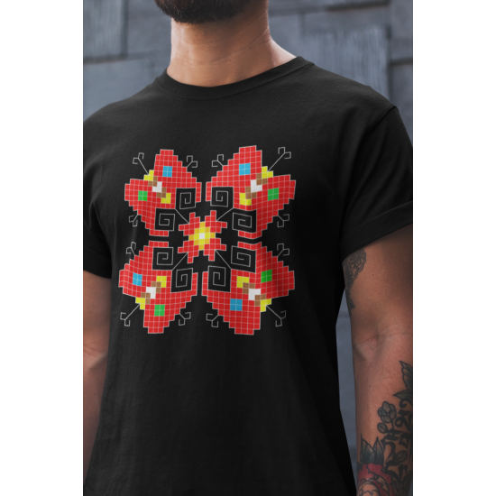 Мъжка тениска с етно мотиви 13