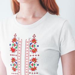 Дамска тениска с етно мотиви 05