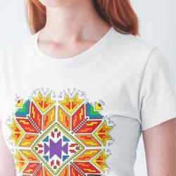 Дамска тениска с етно мотиви 01
