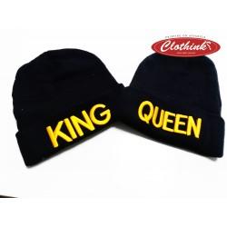 Комплект зимни шапки King & Queen Gold