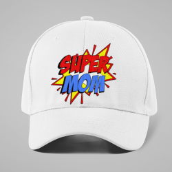 Шапка с козирка Super Mom