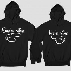 Комплект суичъри She's mine - He's mine