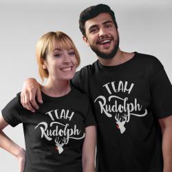 Коледни тениски за влюбени - Team Rudolph