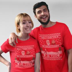 Коледни тениски за влюбени - All I Want For Christmas ...