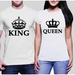 Комплект тениски - King & Queen