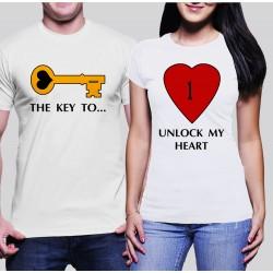 Комплект тениски KEY-HEART