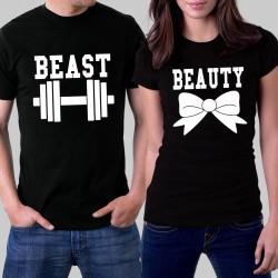Комплект тениски - Beauty and Beast