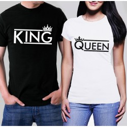 Tениски за влюбени - King Queen /black and white/