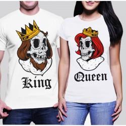 Tениски за влюбени -  King & Queen Skull