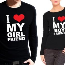 Комплект блузи за влюбени - I Love