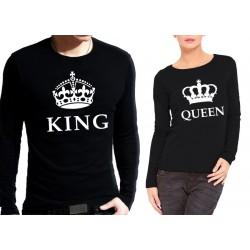 Комплект блузи за влюбени - King & Queen