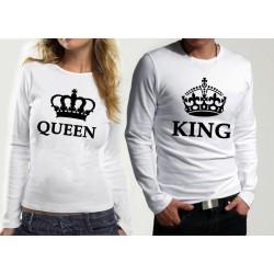 Комплект блузи за влюбени  King & Queen
