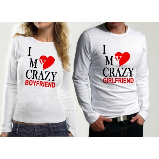 Комплект блузи за влюбени  CRAZY BOY & GIRL
