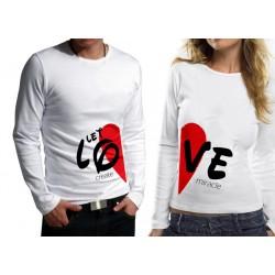 Комплект блузи за влюбени - Let Love Creat Miracle