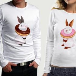 Комплект блузи за влюбени  Mr & Mrs Rabbit