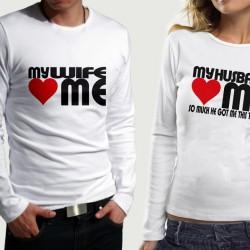 Комплект блузи за влюбени  My Husband & My Wife