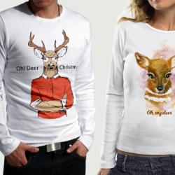 Комплект блузи за него и нея Xmas Deer pr.1