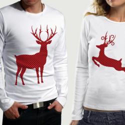 Комплект блузи за него и нея Xmas Deer pr.2