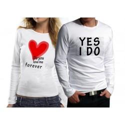 Комплект блузи за влюбени - Do you love me ...