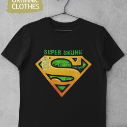 Унисекс тениска с дизайнерски принт - Super organic