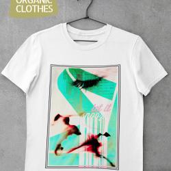 Унисекс тениска с дизайнерски принт - Let it snooze