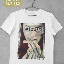 Унисекс тениска с дизайнерски принт - Offline