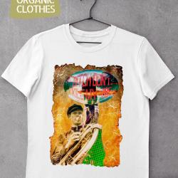 Унисекс тениска с дизайнерски принт - Don't kill my vibe