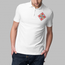 Мъжка тениска тип лакоста с шевици 20