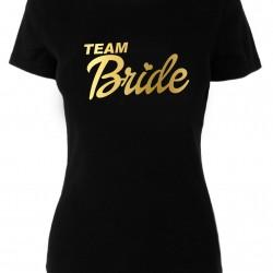 Тениска за моминско парти Team Bride Gold Ring