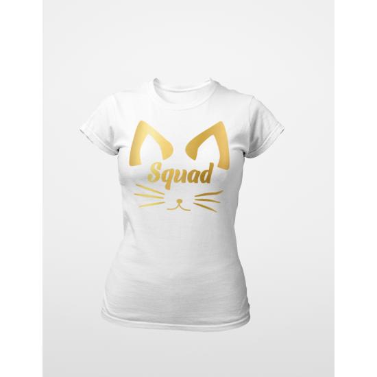 Тениска за моминско парти - Squad meow