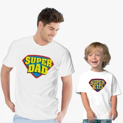 Комплект мъжка и детска тениска SUPER