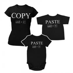 Комплект дамска и детска тениска или боди Copy Paste