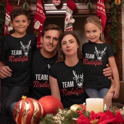 Семеен коледен комплект - Team Rudolph Glitter