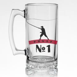 Стъклена халба за бира за РИБАР №1